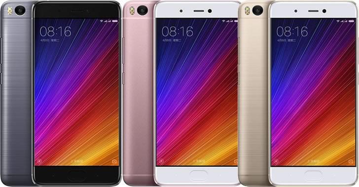 Xiaomi Mi 5S colors