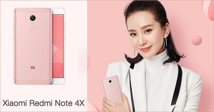 Xiaomi Redmi Note 4X pink