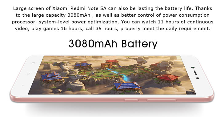 Xiaomi Redmi Note 5A battery