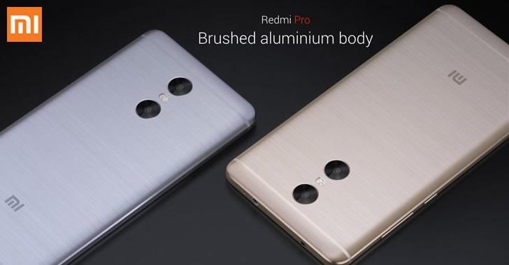 Xiaomi Redmi Pro back panel aluminium