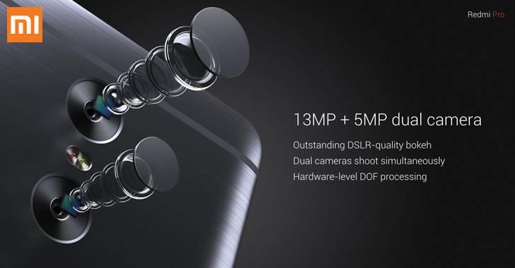 Xiaomi Redmi Pro dual camera