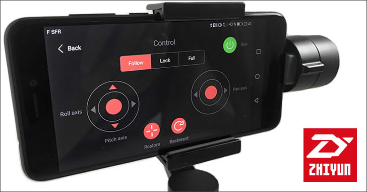 Zhiyun Smooth-Q 3-Axis Handheld Gimbal Stabilizer app