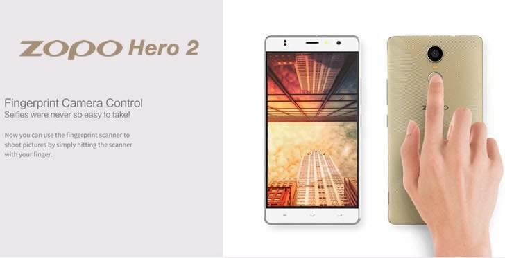 Zopo Hero 2 camera control