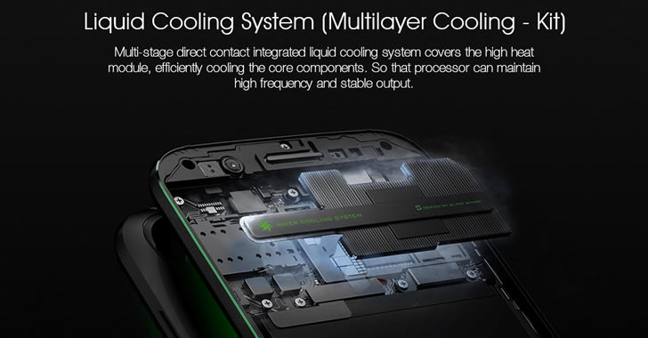 Xiaomi Black Shark cooling