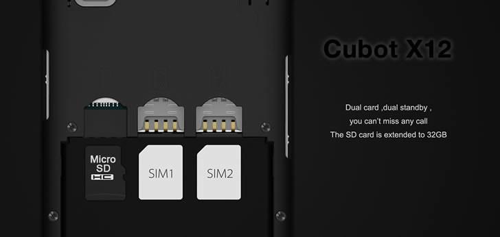 Cubot X12 dual sim