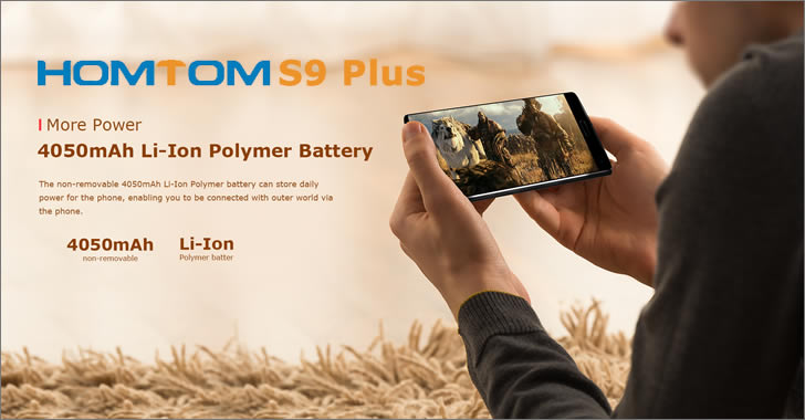 Homtom S9 Plus battery