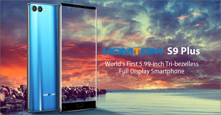 Homtom S9 Plus - класически смартфон без рамки от 3 страни, с 6-инчов екран, двойна камера и ниска цена