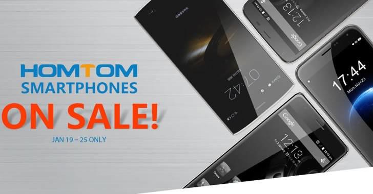 Разпродажба на HOMTOM смартфони