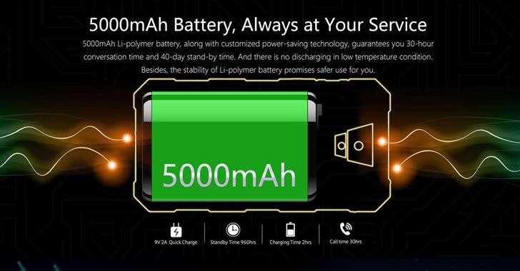 Nomu S10 Pro battery