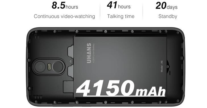 Uhans A6 battery