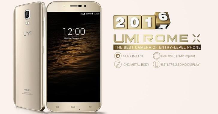 Umi Rome X - евтин смартфон с красив дизайн и метален корпус