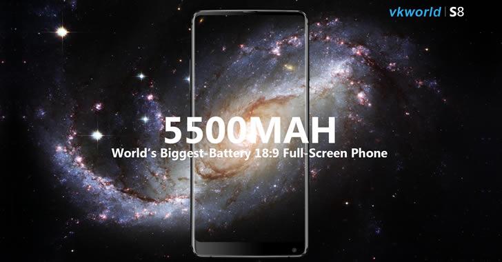 VKworld S8 battery