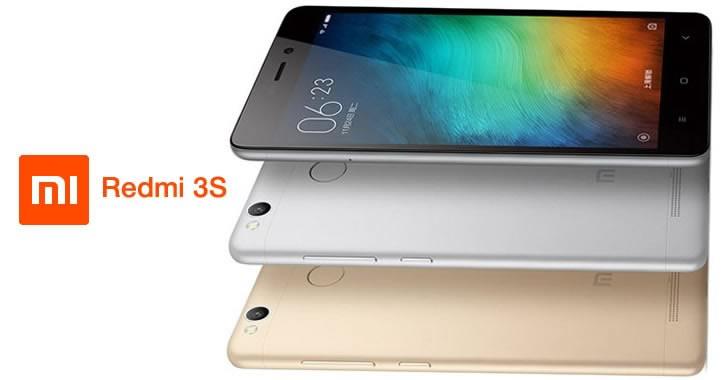 Xiaomi Redmi 3s back - front