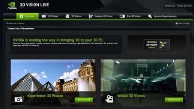 nVidia пусна отделен уебсайт за 3D съдържание