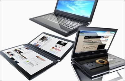 Acer Iconia - революционен лаптоп - таблет с два екрана