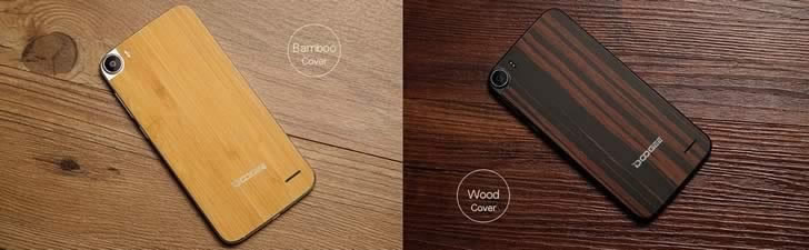 Doogee F3 Pro - bamboo / wood cover