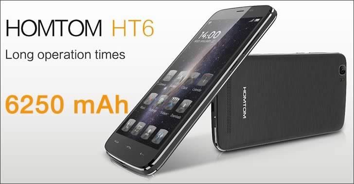 Doogee HOMTOM HT6 - смартфон със 6250 mAh батерия