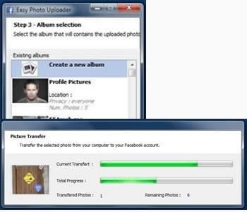 Улеснено публикуване на снимки във Фейсбук с Easy Facebook Photo Uploader for Facebook, версия 2.0.3.5