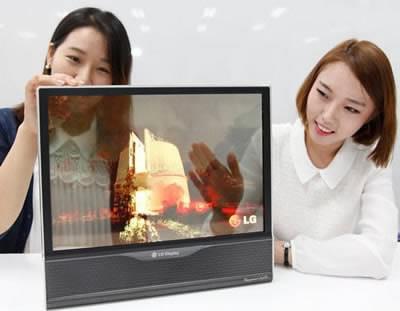 LG демонстрира прозрачен, гъвкав 18-инчов OLED дисплей