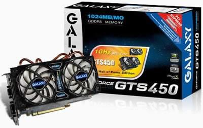 Galaxy GeForce GTS 450 Hall of Fame - честота 1Ghz и охлаждане с 2 вентилатора