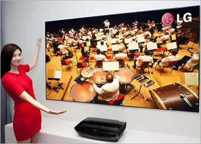 LG Cinema Beam HECTO 2 Laser TV - 100-инчова картина от 15 сантиметра