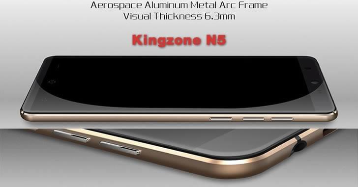 Kingzone N5 - стилен и евтин 5-инчов китайски смартфон с алуминиева рамка
