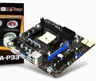 MSI FM2-A75MA-P33 - дънна платка с AMD A75 чипсет и FM2 сокет