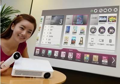 TV Mini Beam Master - домашен Full HD проектор от LG с богата функционалност