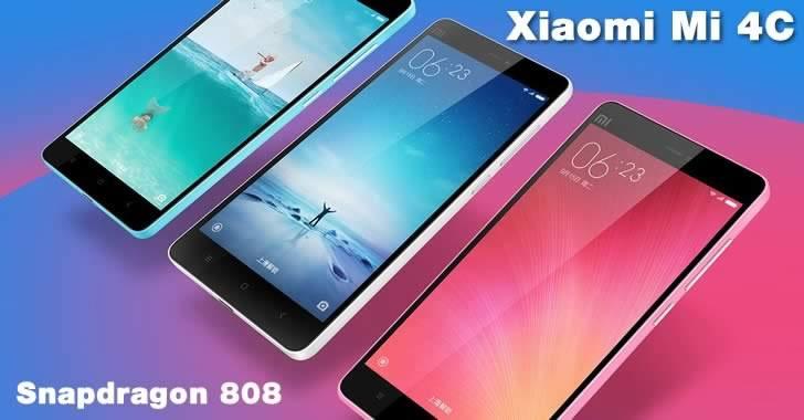 Xiaomi Mi 4c - Snapdragon 808 и USB-C порт