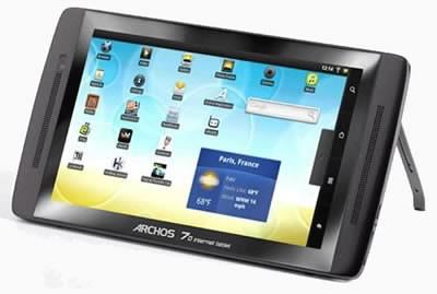 Archos пуска таблет с твърд диск, вместо flash памет