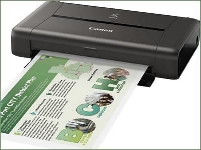 PIXMA iP110 - компактен мобилен принтер с безжична връзка от Canon
