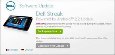 Таблетът Dell Streak с ъпдейт до Android 2.2 Froyo от днес