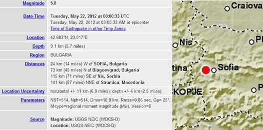 Силно земетресение разлюля България