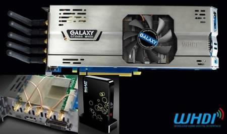 Galaxy пуска GTX460 видеокарта с безжично предаване на видеосигнала...