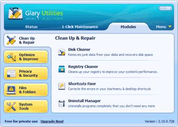 Оптимизация на Windows OS с Glary Utilities, версия 2.31.0.1098