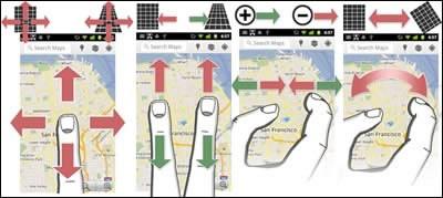 Google Maps 5.0 за Android и Samsung Galaxy Tab