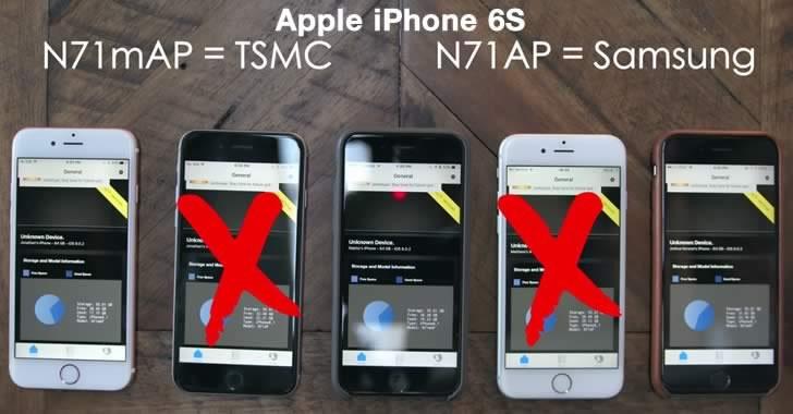 Apple iPhone 6s с различно енергопотребление в зависимост от това, дали Samsung или TSMC е произвел A9 процесора