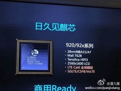 Kirin 920 - 8-ядрен мобилен процеоср от Huawei с поддръжка на VoLTE и QHD екран