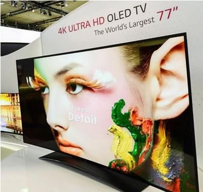 LG показа най-големия огънат OLED телевизор на IFA 2013