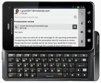 Motorola Droid 3 е най-тънкия QWERTY смартфон в света