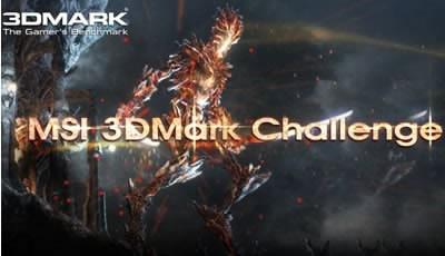 MSI организира състезание с награди 3DMark Challenge