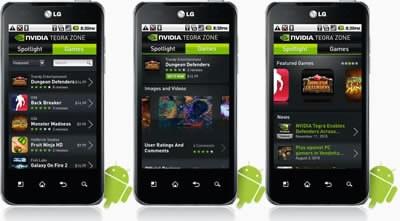 nVidia пуска Tegra Zone — приложение за игри под Android ОС