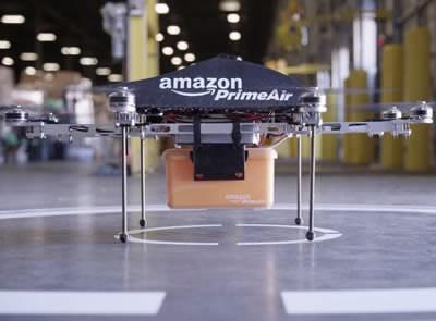 Amazon тества безпилотни дрони за експресни доставки до дома