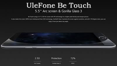 UleFone Be Touch - 5.5-инчов смартфон с 8-ядрен процесор и 3 GB RAM