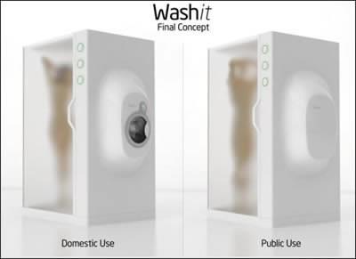 WashIT - Иновативна душ кабина ще пере дрехите ви докато се къпете