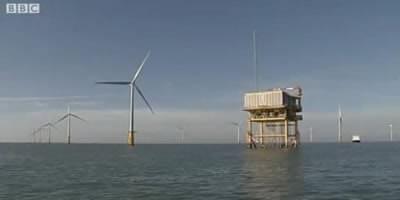 Най-голямата морска вятърна електроцентрала е в Англия...