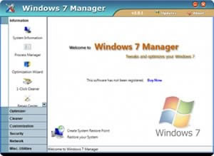 Оптимизатори: Windows 7 Manager, версия 2.10