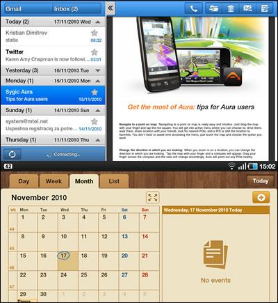 how to get calendar on samsung tab 4