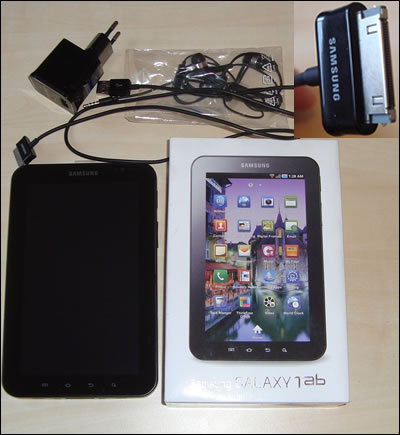 Samsung Galaxy Tab in the box