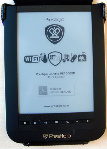Prestigio Libretto PER5062B Ebook Off Screen